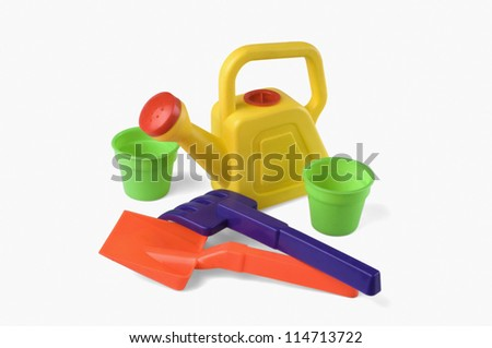 Close-up of toy gardenng tools