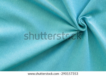 close up of turquoise cotton  - textile background #290157353