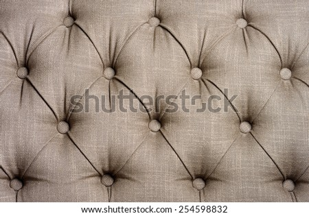 Close-up of upholstered furniture