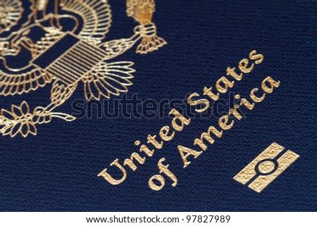 close-up of us passport