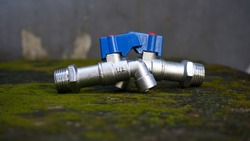 Close up of used water tap