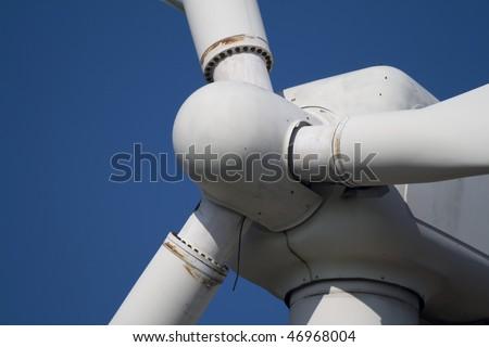 Close-up of Used Wind Turbine