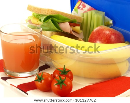 Close-up of vegetarian breakfast for one person