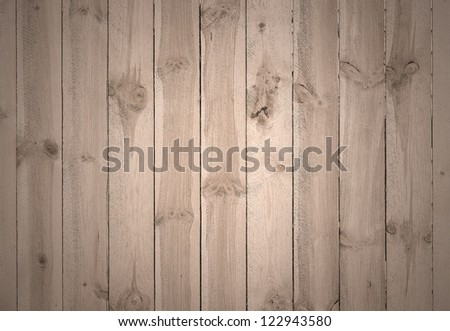 Close up of vertical  wooden fence panels