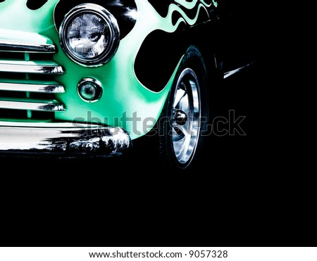 close up of vintage car