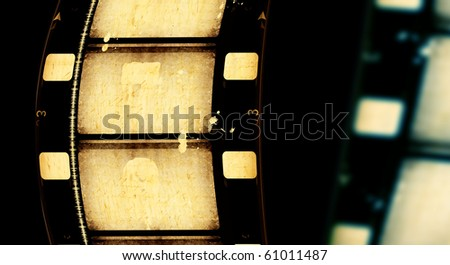Close up of vintage movie film strips - stock photo