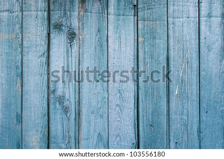 Close up of vintage 1890\'s weathered door wood. Nice aged, blue patina. / Faded Blue, 1890\'s Weathered Wood / Nice background for whatever idea or notion you may have.