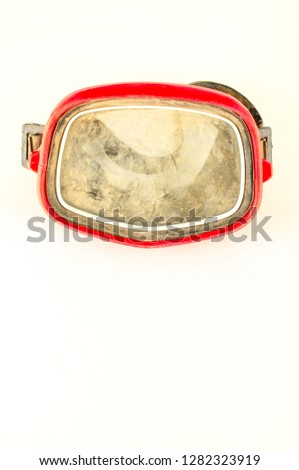 Close-up of vintage scuba mask #1282323919