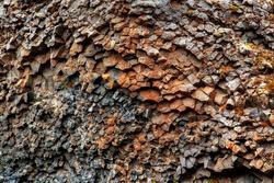 Close up of volcanic gravel soil named