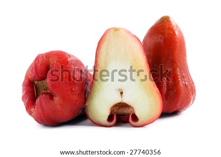 Close up of water apples isolated on white background.