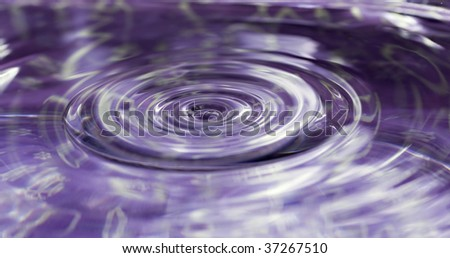 Close up of water droplets and ripples
