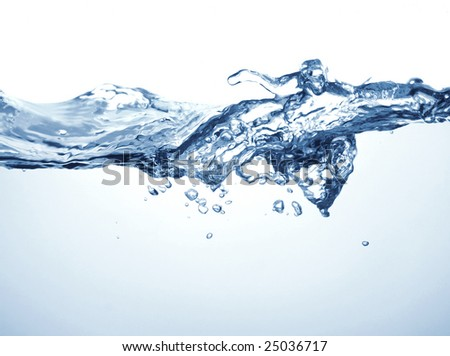 Close up of water splashing