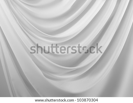close up of white silk textured cloth background