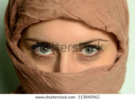 close up of woman beauty eyes