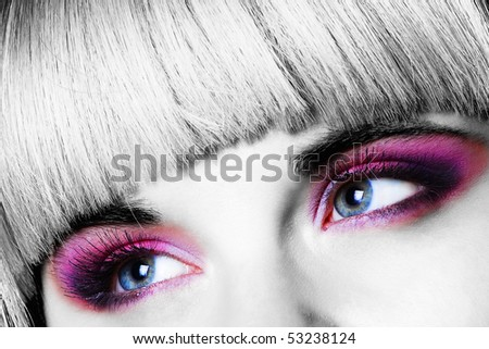 Close-up of woman eyes
