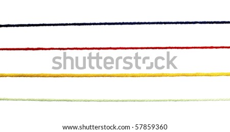 close up of wool strings for knitting - stock photo