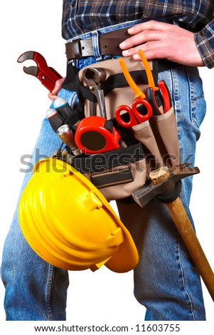 Close-up of worker with tools 5