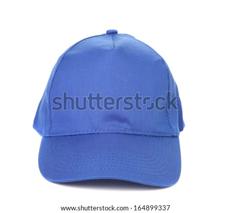 Close up of working peaked cap. Isolated on a white background.