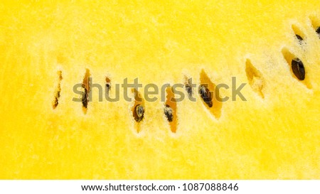 Close up of yellow watermelon for a background.