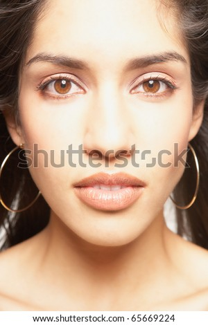 Close-up of young woman's face