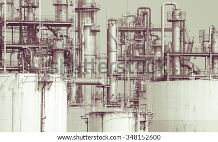 close   up oil refinery plant...