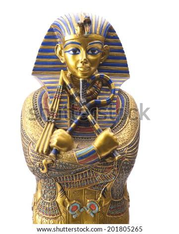 Close up Old Egyptian pharaoh Statue Stock photo ©