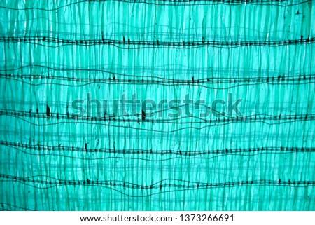 Close up old Shading Net protect sun shade  #1373266691
