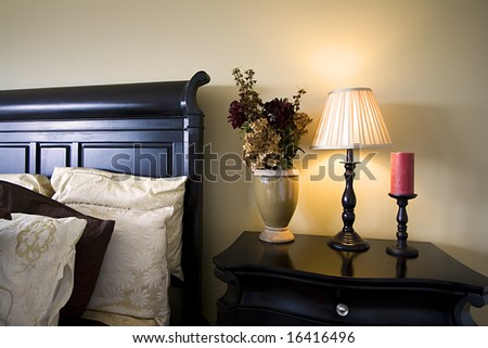 Close up on a bed in a bedroom