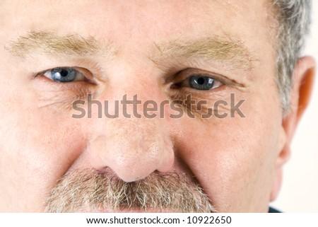 Close up on a face of a Senior Citizen