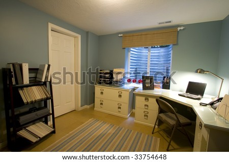 Close up on a Home Office Room