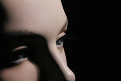 close up on A woman's doll - mannequin