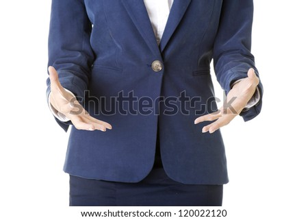 Close up on business woman hands