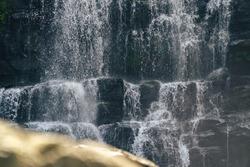 Close up on Nauyaca Waterfall, Costa Rica