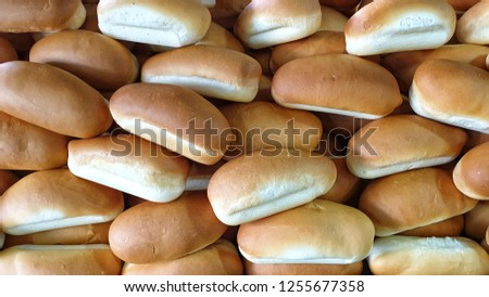 Close up on pile of bread bun. Food background idea or wallpaper.