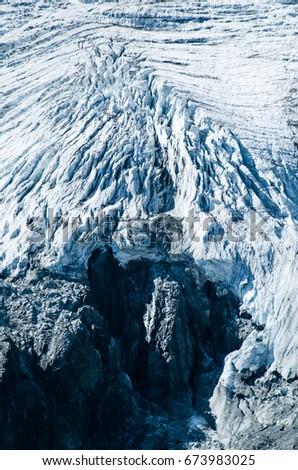 Close up on the glacier du Casset, Les Écrins National Park, France