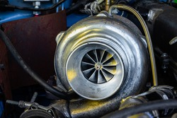 Close Up on Turbo with Turbine Exposed