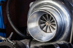 Close Up on Turbocharger with Blades Exposed