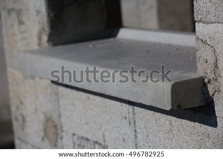 close up on windows edge unfinished #496782925