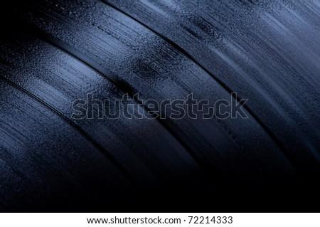 close up op vinyl LP record - stock photo