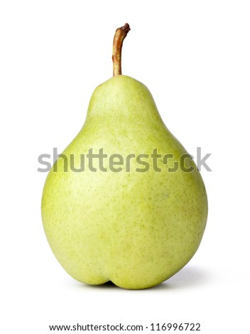 Close up Pear on a white background