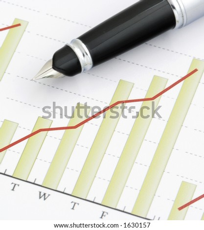 Close- up Pen on Positive Earning Graph