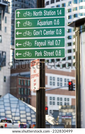 Traffic signs in Boston, Massachusetts, USA Free Images and Photos