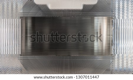 Close-up photo of a speedlight fresnel lens #1307011447