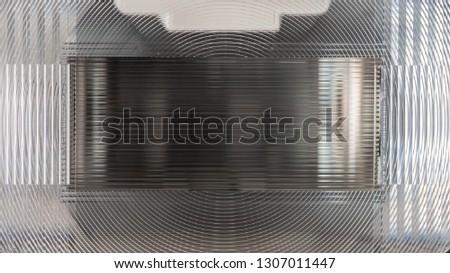 Close-up photo of a speedlight fresnel lens #1307011447