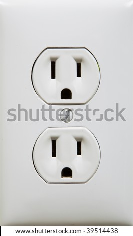 close up photo of a white electric outlet