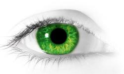 Close up photo of an eye.