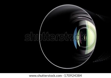 Close-up photo of camera zoom lens #170924384