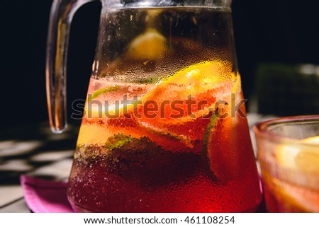 Close-up photo of homemade lemonade #461108254