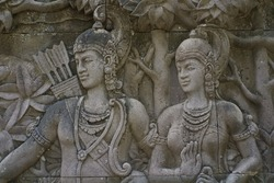 close up photo of stone carving, traditional art