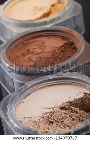 Close-up Photo Of Three Cosmetic Powder Colors